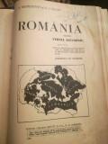 """1935 """"Romania. Pentru cursul secundar"""", S. MEHEDINTI si G. VALSAN, hartă color"""