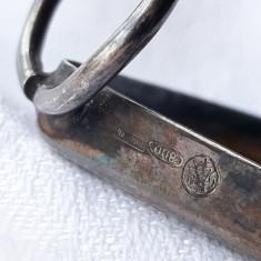 RAMA FOTO argint INIMIOARA de BIROU patina MINUNATA rara VECHE de efect SUPERBA