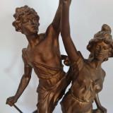 STATUETA , TROFEU , GRUP STATUAR - sfarsit secol XIX - 1880- antimoniu