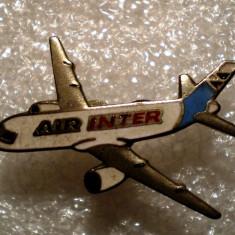 I.539 INSIGNA AVIATIE FRANTA AIR INTER 25mm email