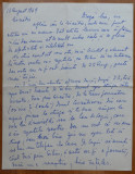 Scrisoare a scriitoarei Lucia Demetrius catre Mia Groza , 1969