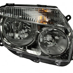 Far dreapta (H1 H7 reglaj electric manual cu motoras fundal argintiu) DACIA DUSTER 2010 2013