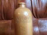 Veche Sticla ceramica cu scris J.v.d. Valk & Co Rotterdam prima parte a sec XX !