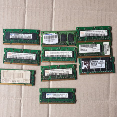 lot 10 placute ram pentru laptop DDR2 de 512 mb