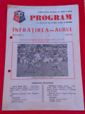 Program meci fotbal INFRATIREA ORADEA - AURUL BRAD (16.08.1981)
