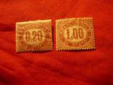 2 Timbre Italia 1875 - Franco Bollo : 0,2 si 1 lire, Nestampilat