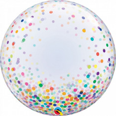 Balon Deco Bubble confetti colorate 61 cm