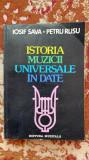 ISTORIA MUZICII UNIVERSALE IN DATE.1983AUTORI IOSIF SAVA,PETRU RUSU