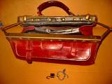 B782-C-Geanta Doctor piele veche cu lacat si cheie originala.