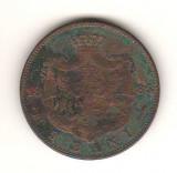 SV * Romania 5 BANI 1885 * Regele Carol I, Cupru (arama)