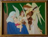 """Tablou in ulei """" Cantecul ingerilor"""" 34x44 cm, rama lemn, Scene gen, Realism"""