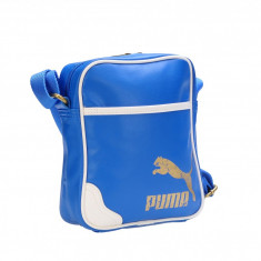 Geanta tip poștaș casual unisex Puma Originals Portable PU victoria blue 07232203