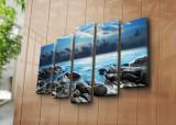 Tablou decorativ canvas (5 Piese) Horizon, 237HRZ4255, Multicolor