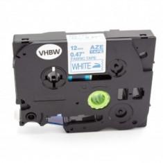 Aufbügelband-kassette pentru textil ersetzt brother tze-fa3 12mm, blau auf weiß, ,