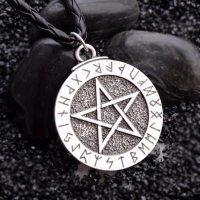 Pandantiv / Colier / Lantisor / Talisman - Pentagrama , Steaua Lui David foto