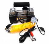 Set compresor auto cu doi cilindri, si manometru, 12V (bricheta) - Camion, SUV 4x4, 85l/min, 65235