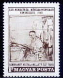 B1294 - Ungaria 1969 - Istoria artei, neuzat,perfecta stare