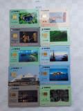 = LOT 450 - TAIWAN - 10 CARTELE TELEFONICE DIFERITE =