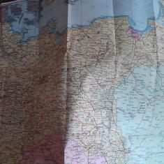 Harta Germania si Europa Centrală (Pharus, anii '3o)