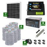 Pachet Gard electric 6,6j putere cu Panou Solar si 6000m de fir 120Kg