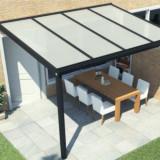 Terasa aluminiu 4x3 mp cu acoperis din policarbonat