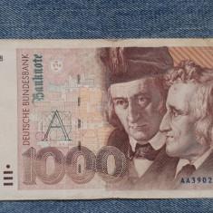 1000 Mark 1991 Germania RFG, marci germane