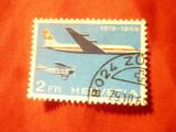 Timbru Elvetia 1969 - Aviatie , 2 fr. stampilat