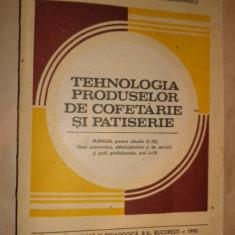 Tehnologia produselor de cofetarie si patiserie an 1995/327pagini