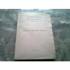 STUDII DE GEOLOGIE TEHNICA 1967