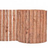 VidaXL Gard din scoarță de copac, 1000 x 30 cm