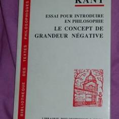 Essai pour introduire en philosophie le concept de grandeur negative / I. Kant