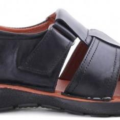Sandale din Piele Barbatesti Veratico, 41 - 45, Negru, Sandaleromane