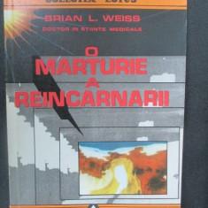 O marturie a reincarnarii-Brian L.Weiss