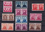 ROMANIA 1943  LP 155  FIGURI  ARDELENE   PERECHE  SERII   MNH