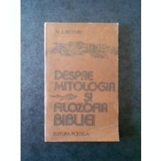 M. S. BELENKI - DESPRE MITOLOGIA SI FILOZOFIA BIBLIEI