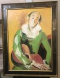 Arlechin cu chitara - Vasile Grigore, Portrete, Ulei, Impresionism