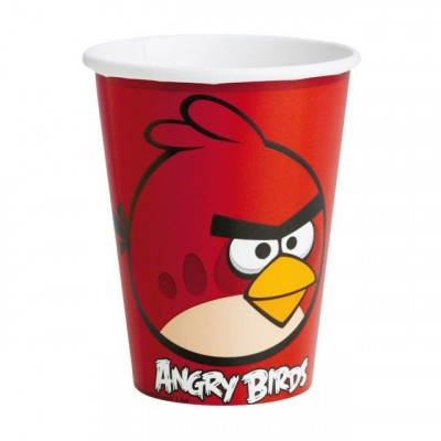Pahare Angry Birds Party 266 ml set 8 buc foto