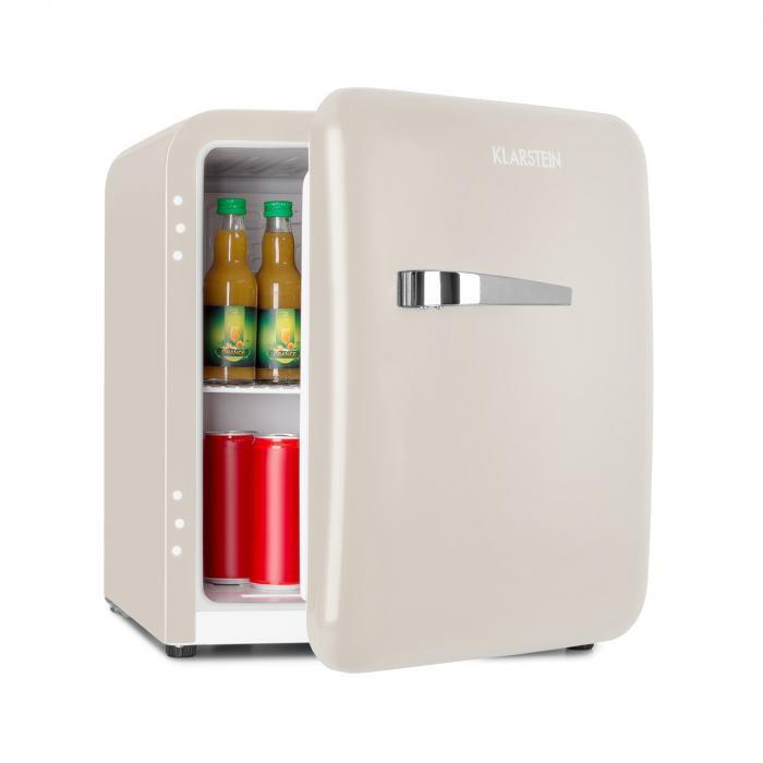 Klarstein Audrey, frigider mini retro, 48L, 2 niveluri, A+, crem