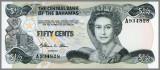 BAHAMAS P-42 - 50 Cents ND(1984) UNC