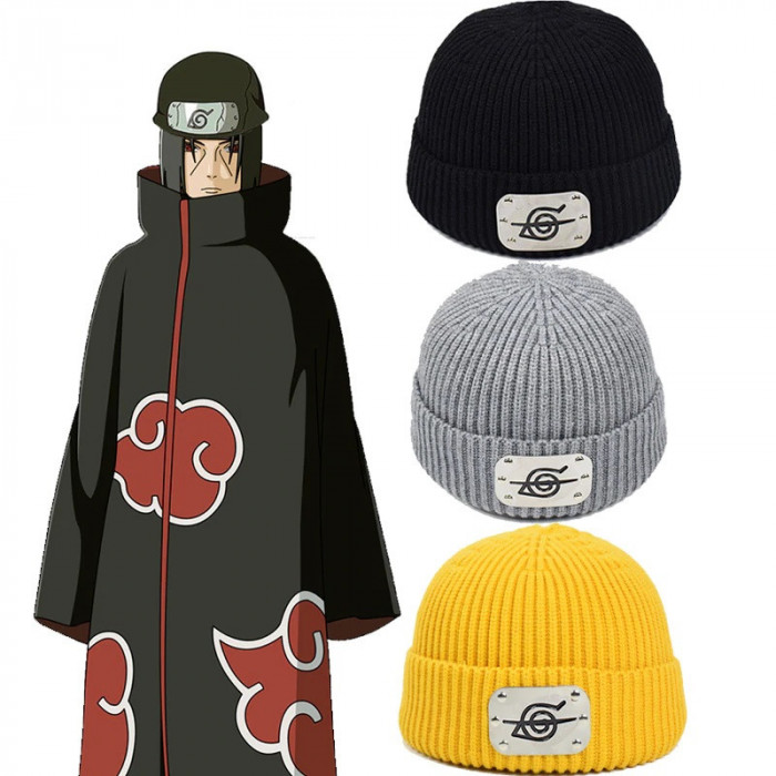 Caciula fes cu bandana Naruto Shippuden Kakashi Sasuke Itachi anime +CADOU!