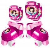 Set patine cu rotile si accesorii protectie Disney Princess
