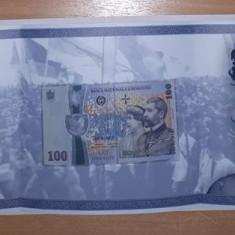 100 LEI 2018 - BANCNOTA BNR - 100 DE ANI DE LA MAREA UNIRE