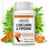 Curcuma Turmeric cu Piperina 30cps. (cancer, articulatii, ficat, creier) Zenyth