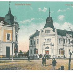 3757 - SATU-MARE, Maramures, Market, Romania - old postcard - unused, Necirculata, Printata