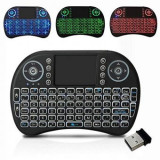 Cumpara ieftin Mini Tastatura wireless 2.4 GHz iluminata RGB, pentru TV Box si Mini PC, Android OS, Smart TV