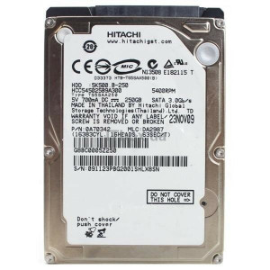 hard disk HDD Laptop 250GB HITACHI HCC545025B9A300 250gb HGST Travelstar 5K500.B