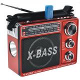 Radio portabil Waxiba XB-206URT, 3 benzi FM/AM/SW, cu lanterna LED si acumulator integrat