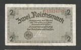GERMANIA  NAZISTA  2 MARCI  REICHSMARK  1940 [18] P- 137b  , 8 cifre  , Litera P
