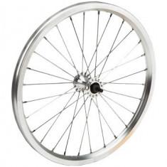 Roata Spate Bicicleta 20x1.50 - 1.75 - Aluminiu - Simpla ( butuc cu frana )