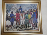 Pictura ulei pe placaj, Constantin Mitroescu, anul 1981 - Rascoala 1907